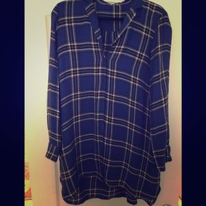 Cotton flannel shirt dress
